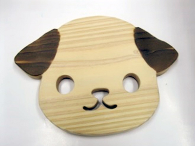 たけのこ学園:犬鍋敷き